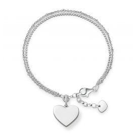 Thomas Sabo LBA0102-001-12-L19,5v Bracelet for Ladies Heart Silver