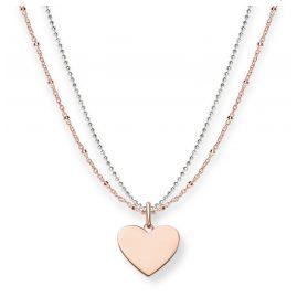 Thomas Sabo LBKE0004-415-12-L45v Women's Necklace Heart Two Tone