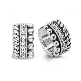 Ti Sento 7604ZI Damen-Ohrringe Creolen Silber Geschwärzt