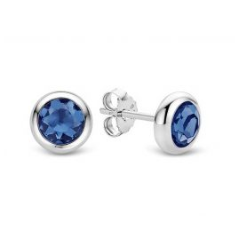 Ti Sento 7748DB Silber-Ohrstecker für Damen Blau