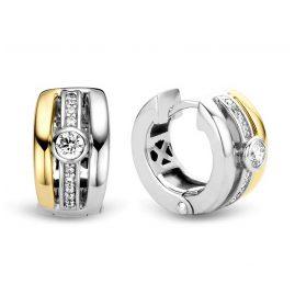 Ti Sento 7754ZY Damen-Ohrringe Creolen Silber Bicolor