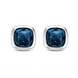 Ti Sento 7808DB Silber-Ohrstecker für Damen Blau