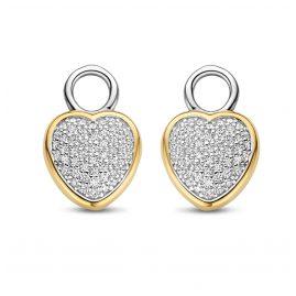 Ti Sento 9232ZY Earring Pendants Heart Two-Colour
