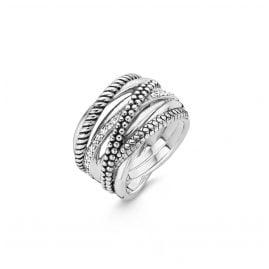 Ti Sento 12066ZI Ladies' Silver Ring