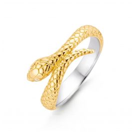 Ti Sento 12160SY Damen-Ring Schlange Silber vergoldet