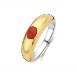 Ti Sento 12185CR Damen-Bandring Silber vergoldet
