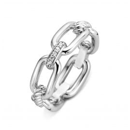 Ti Sento 12206ZI Damen-Ring Silber mit Zirkonia