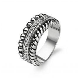 Ti Sento 1836ZI Damen-Ring Silber geschwärzt