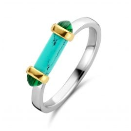 Ti Sento 12224TQ Silver Women's Ring Turquoise/Green