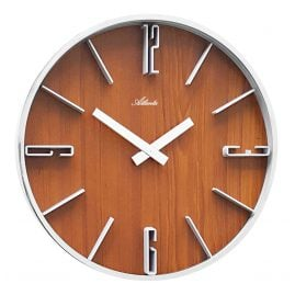 Atlanta 4426/20 Quartz Wall Clock Walnut