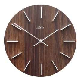 Atlanta 4419/20 Wall Clock Walnut