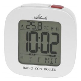 Atlanta 1873/0 Digital Radio-Controlled Alarm Clock White