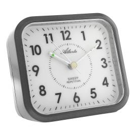 Atlanta 1768/4 Quartz Alarm Clock Anthracite