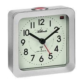 Atlanta 1854/19 Radio-Controlled Alarm Clock with Luminous Dial