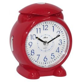 Atlanta 1985/1 Alarm Clock with Melody or Bell Sound Red