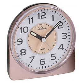 Atlanta 1996/18 Quartz Alarm Clock with Quiet Movement Coppery