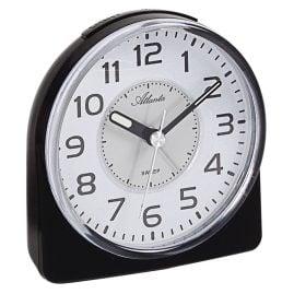 Atlanta 1996/7 Quartz Alarm Clock with Silent Movement Black