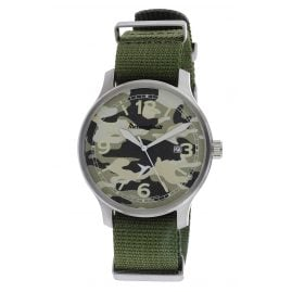 Messerschmitt ME-42L-TB Men's Watch Camo with Green Textile Nato Strap
