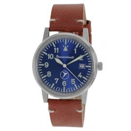 Messerschmitt ME-9673BLVIN Men's Watch with Leather Strap blue / brown
