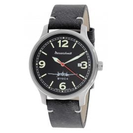Messerschmitt BF110C-4 Men's Aviator Watch Black
