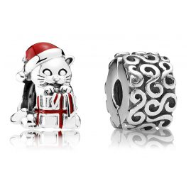Pandora 08020 Gift Set Christmas Kitten and Ornaments