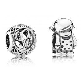 Pandora 08209 Charms Vintage G und Kleines Mädchen