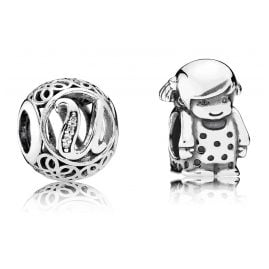 Pandora 08249 Charms Vintage U and Small Girl