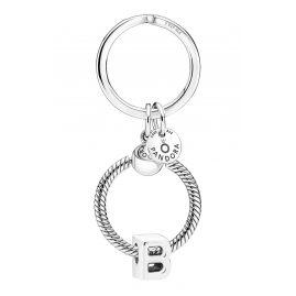 Pandora 51525-B Key Ring with Letter Pendant B