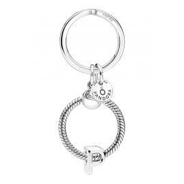 Pandora 51525-P Schlüsselring mit Buchstaben-Anhänger P