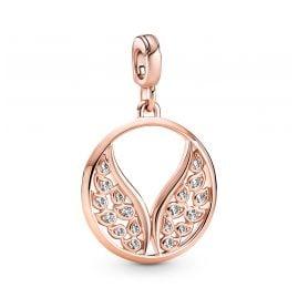 Pandora 789672C01 Medallion Pendant Burning Wings Rose Gold Tone