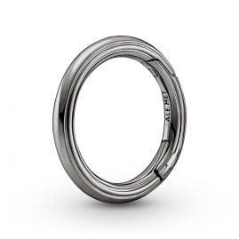 Pandora 749671C00 Styling Round Connector Dark Grey