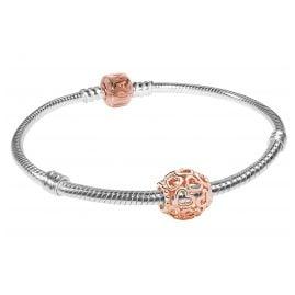 Pandora 08336 Starter-Armband Herzstrudel Rosé
