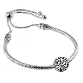 Pandora 08664 Bracelet Set Moments Sliding and Charm Open Your Heart