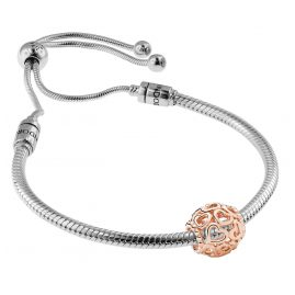 Pandora 08665 Bracelet Set Moments Sliding and Charm Open Your Heart Rose
