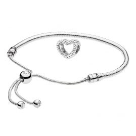 Pandora 08658 Armband-Set Moments Sliding und Beaded Heart