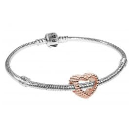 Pandora 08666 Bracelet Set Beaded Heart Rose