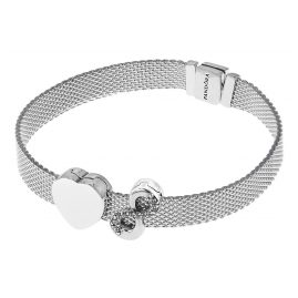 Pandora 75336 Reflexions Silver Ladies' Bracelet with 2 Clip Charms