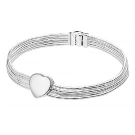 Pandora 75342 Reflexions Women's Bracelet Snakes with Clip Charm Heart