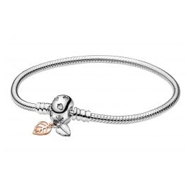 Pandora 588333CZ Rose Women's Bracelet Moments Leaves & Snake Chain
