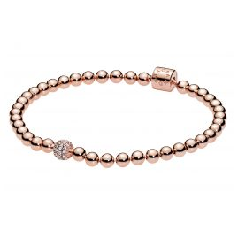 Pandora 588342CZ Rose Ladies' Bracelet Beads & Pavé