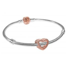 Pandora 75626 Armband-Set Beaded Heart Rose