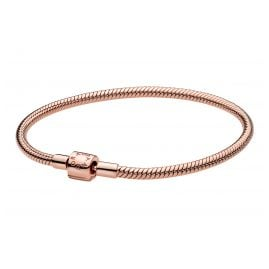 Pandora 588781C00 Rose Ladies' Bracelet Moments Barrel Clasp Snake Chain