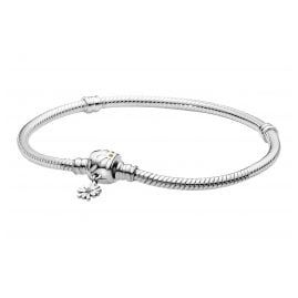 Pandora 598776C01 Silver Women's Bracelet Moments Snake Chain Daisy Flower