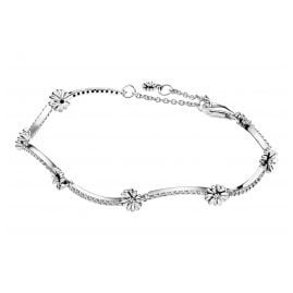 Pandora 598807C01 Ladies' Silver Bracelet Sparkling Daisy Flower