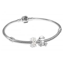 Pandora 75706 Silver Bracelet Nini the Rabbit with Daisy Flowers
