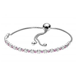 Pandora 598517C02 Damen Silber-Armband Pink & Clear Sparkle