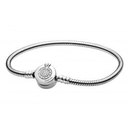 Pandora 599046C01 Snake Chain Bracelet Moments Sparkling Crown O Silver