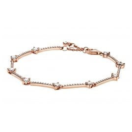 Pandora 589217C01 Rose Ladies' Bracelet Sparkling Pavé Bars White