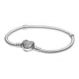 Pandora 599299C01 Damen-Armband Micky Maus Herz Silber