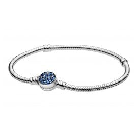 Pandora 599288C01 Damen-Armband Funkelnde Blaue Scheibe Silber